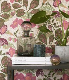 """744 Likes, 10 Comments - Boråstapeter (@borastapeter) on Instagram: """"The colourful pattern Vildtuta, designed by @hannawerning """""""