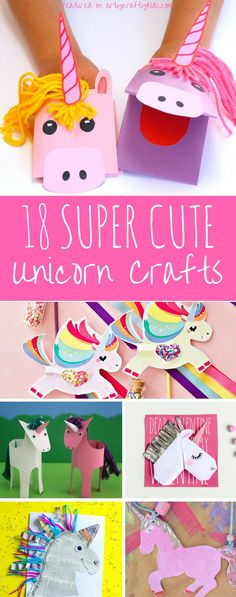 Arty Crafty Kids Craft 18 Irrestibly Cute Simple Unicorn Crafts For Kids Crafts For Teens To Make, Easy Arts And Crafts, Projects For Kids, Diy For Kids, Diy And Crafts, Craft Projects, Kids Fun, Craft Ideas, Simple Crafts For Kids