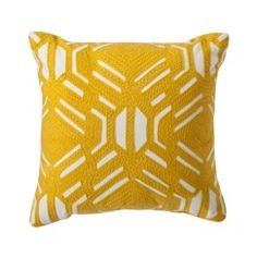 $16.99 at Target...guest bedroom...Room Essentials® Patterned Decorative Pillow - Yellow Quick Information