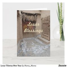 Happy Losar for all of you! New Year Wishes, New Year Card, Holiday Cards, Christmas Cards, New Year Holidays, Paper Texture, Christmas Card Holders, Zazzle Invitations, Tibet