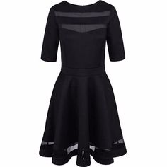2017 Women Summer Autumn Style Casual Black Dress Half Sleeve O-neck Vintage Party Sexy Dresses Plus Size Clothing
