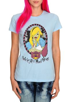 WE'RE ALL MAD HERE GIRLS T-SHIRT