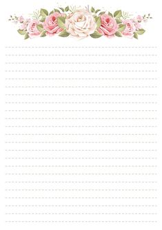 Printable Graph Paper, Free Printable Stationery, Printable Recipe Cards, Printable Letters, Flower Border Clipart, Beautiful Notes, Cute Simple Wallpapers, Bullet Journal Ideas Pages, Stationery Paper