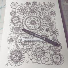 slow doodle - fireworks inspired, flower shapes, mandalas