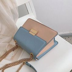 Tianxiao Fresh New Contrast Color Chain Small Square Bag Fashion Wild Simple Shoulder Messenger Bag is designer, see other cute bags on NewChic. Popular Handbags, Cute Handbags, Hermes Handbags, Cheap Handbags, Fashion Handbags, Purses And Handbags, Fashion Bags, Luxury Handbags, Canvas Handbags