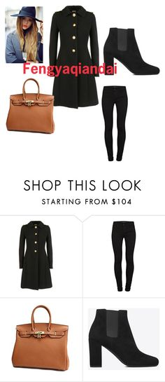 """Fengyaqiandai women genuine leather handbags20151127001"" by houseofhello on Polyvore featuring Miu Miu, J Brand and Yves Saint Laurent"
