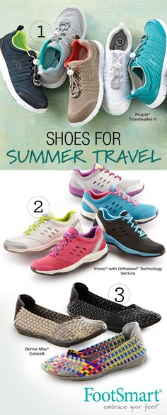 Going on vacation? Take us with you! We've got you covered this Summer with travel-ready shoes that are comfortable and stylish, including cute flats and top-rated walking shoes to help keep you feeling good on your feet.