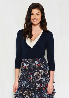The Dream of the Crop Cardigan in Navy, @ModCloth