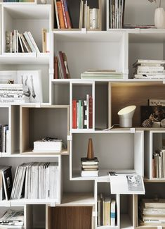 Book Organization With Muuto Stacked Storage System, Designed By Julien De  Smedt. #muuto