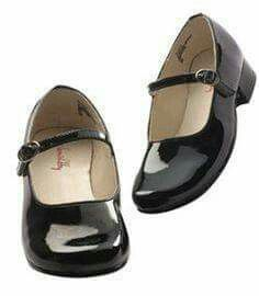 Patent leather shoes. We polished them with Vasoline