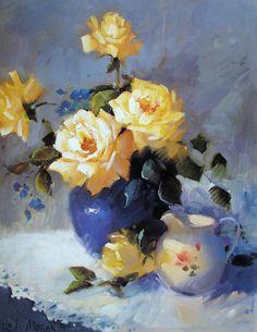 NANCY BAUTZMANN - Transparências   Óleo sobre linho, 61 x 91    Há um conceito errado de que as composições feitas com flores sejam as co...
