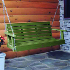 Highwood products are proudly and entirely made in the USA. Highwood is the most realistic, ultra-low maintenance synthetic wood for outdoor use. Nantucket, Patio Swing, Porch Swings, Arbor Swing, Front Yard Design, Diy Porch, Building A Deck, Outdoor Furniture, Outdoor Decor