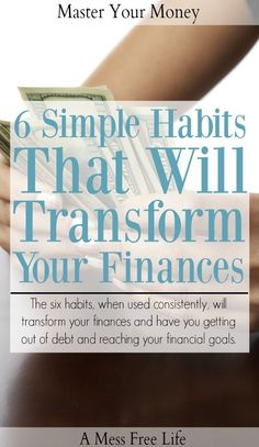 Does your budget need an overhaul? These 6 habits will help you completely transform your finances and have you on the road to financial well being. Budgeting Finances, Budgeting Tips, Ways To Save Money, Money Saving Tips, Money Tips, Money Savers, Ambition, Financial Goals, Financial Planning