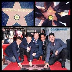 New Kids On The Block ~ Star on Hollywood Walk of Fame 10-09-14 ~ found on Tumblr