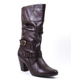 White Mountain Women'S Ginger Fashion - Mid-Calf Boots Brown/Smooth Size 9 M #WhiteMountain #FashionMidCalf