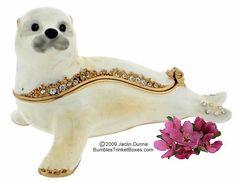 Trinket Box: White Seal Pup