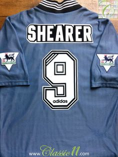 Relive Alan Shearer's 1996/1997 Premier League season with this vintage Adidas Newcastle Away football shirt.