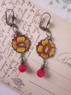 Tin Earrings Electric Yellow Tin for the Ten Year by TheMadCutter, $27.00