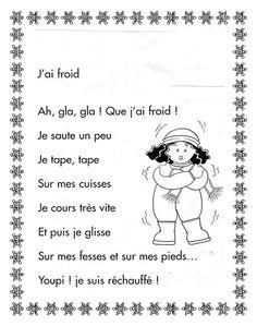 """Résultat de recherche d'images pour """"poésie hiver en maternelle"""""""