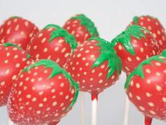 Strawberry cake pops!