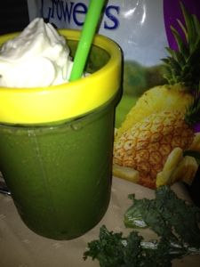 Spinach, Kale and Pineapple Smoothie  Kale is a Nutritional Powerhouse    1 C of kale contains 36 calories, 5 grams of fiber, and 15% of the daily requirement of calcium and vitamin B6 (pyridoxine), 40% of magnesium, 180% of vitamin A, 200% of vitamin C, and 1,020% of vitamin K. It is also a good source of minerals copper, potassium, iron, manganese, and phosphorus.    Kale's health benefits are primarily linked to the high concentration and excellent source of antioxidant vitamins A, C, and...