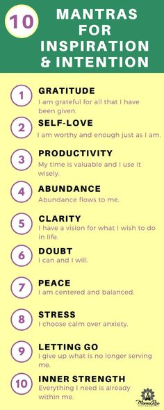 10 Morning Mantras for Inspiration and Intention - 10 morning mantras for inviting intention into your day and directing your energy towards what you'd like to manifest. - Click the image for more and Vie Positive, Positive Affirmations Quotes, Self Love Affirmations, Affirmation Quotes, Miracle Morning Affirmations, Mantras For Positive Energy, Mantras For Anxiety, Quotes Positive, Kundalini Yoga