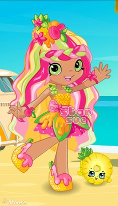 Shopkins Shoppies Pineapple Lily Dress Up Game Shopkins Art, Shopkins Bday, Shopkins Girls, Shopkins Guide, Shoppies Dolls, Shopkins And Shoppies, Monster High Custom, Monster High Dolls, Plastic Canvas Patterns