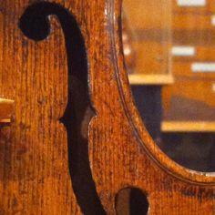 Treble side f hole, Andrea Amati violin c. 1577