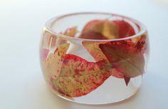 Handmade Real Flower Resin Bangle by smartflower on Etsy