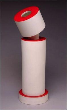 Ettore Sottsass, Vase Juliette, Sèvres, 1994, 55 x 22,5 cm | red white ceramics design