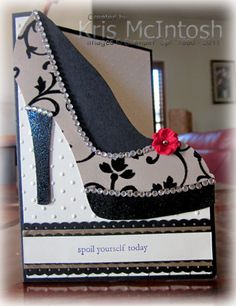 template and video instructions on Tanya Bell's blog. I needed a really special birthday card for a friend celebrating a milestone birthday.