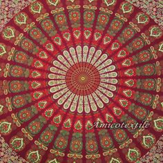 Indian Mandala Queen Bedspread Bed Sheet Bed Cover Wall Hanging Tapestry Decorative 100% Cotton Throw Decor India Art by Decorhubindia on Etsy