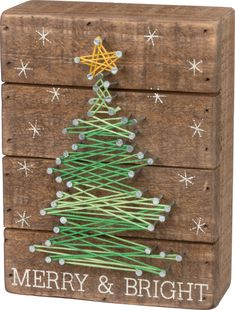 Primitives By Kathy, String Art - Merry & Bright