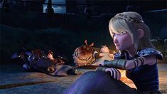 I love how Hiccup ends up on top of Toothless