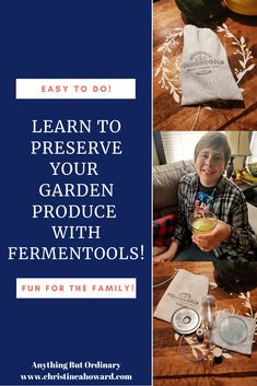 Learn to preserve your garden produce with Fermentools. Fermented Tea, Fermented Foods, Types Of Vinegar, Kombucha How To Make, Wide Mouth Mason Jars, Kombucha Tea, In The Hole, Food Reviews, Home Schooling