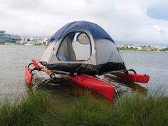 Adventure Island Kayak: Tent on a Kayak