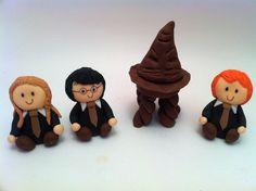 Sorting Hat Fondant Cake Topper,  Harry Potter Cake Decoration.