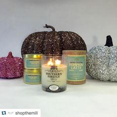 #Repost @shopthemill with @repostapp.  Pumpkin spice and everything nice  We can't get enough of these delicious smelling candles! #candles #local #nashville #shopthemill #pumkin #latte #themill #shoplocal #holidaycandles