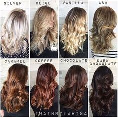 Forever my favorite color chart I have made. Which tone is your favorite ?  #Tag a friend or a stylist for a better visual on each individual tone. #HairByLarisaLove