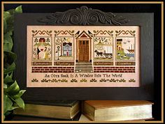 """The Library - Cross Stitch Pattern  by Little House Needleworks----- """"An open book is a window into the world.:"""