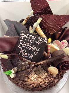 Chocolate textured dream cake.