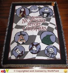 Nightmare Before Christmas Quilt Rare