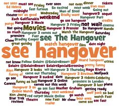 The highly anticipated Hangover 3 is out today. The social web is very excited. Might this win the box office war this weekend?