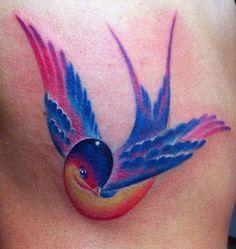 watercolor bird, watercolor tattoos