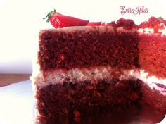 Tarta red velvet sin colorante (con remolacha) Red Velvet Muffins, American Cake, Cake In A Jar, Bunt Cakes, Homemade Cake Recipes, Pie Cake, Cookies And Cream, Sin Gluten, Healthy Desserts
