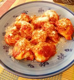 Culurgiones with tomatoes and pecorino cheese. Buon appetito!
