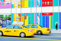 Color Concepts Photography  Mitchell Funk mostly captures urban spaces such as buildings, shops facades and neon signs by a deep blue sky. The universe of this series, exaggerated by flashy saturated colors, demonstrates the artist's own vision and sensibility. Find out more in the gallery.