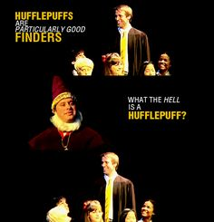 "a very potter musical- ""Hufflepuffs are particularly good finders."" ""What the hell is a Hufflepuff?"" Classic very potter musical moments. Harry Potter Musical, Harry Potter Universal, Harry Potter Memes, Pewdiepie, Markiplier, Draco, Hermione, Smosh, Amazingphil"
