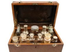 Antique apothecary chest.