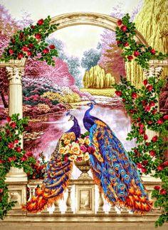 Вышивка крестом в райском саду